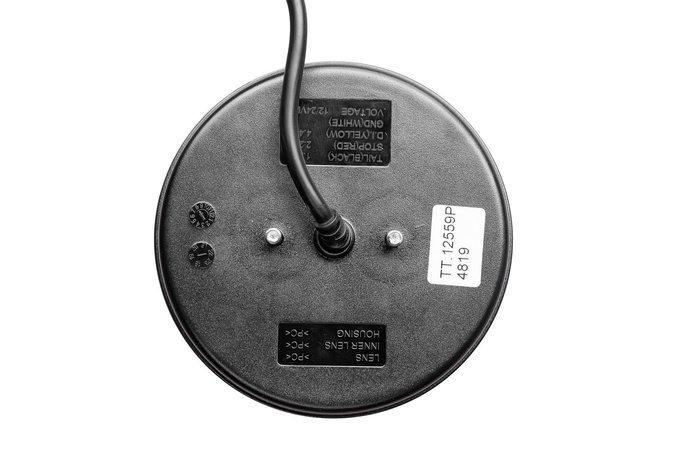 Okrągła lampa tylna zespolona prawa LED 12-24V dynamiczny kierunkowskaz
