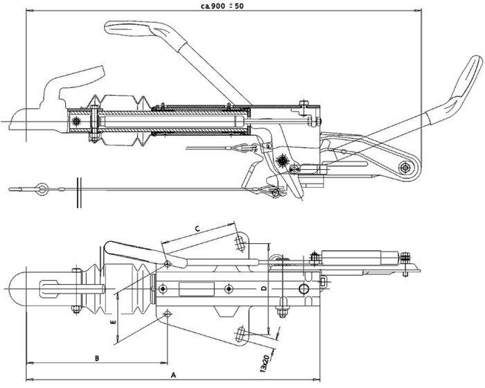 Urządzenie najazdowe do przyczep KNOTT KF20 A 2000kg