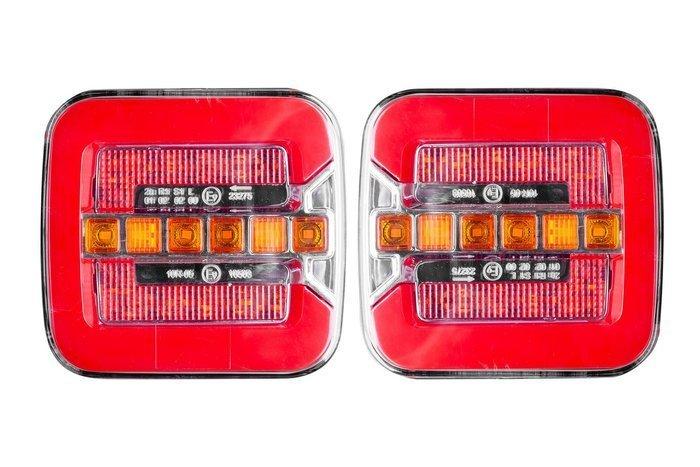Zestaw kwadratowych lamp bezprzewodowych LED z dynamicznym kierunkowskazem